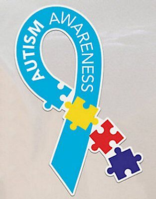 Autism Awareness Multi Color Puzzle Piece Car Magnet-NEW-More In Store