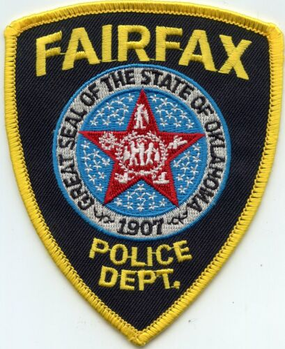 FAIRFAX OKLAHOMA OK POLICE PATCH