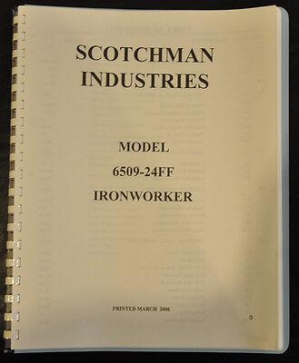 Scotchman 6509-24m Ironworker Operators Manual Parts