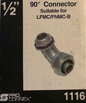Sigma   Pro Connex Liquid Tight 1 2  90 Degree Conduit Connector For Lfmc Fnmc B