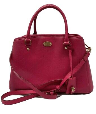 NWT AUTHENTIC COACH MARGOT LEATHER SATCHEL HANDBAG PURSE F34607 RARE Pink