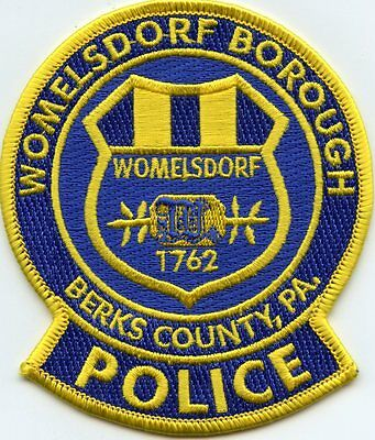 WOMELSDORF BOROUGH PENNSYLVANIA PA Berks County POLICE PATCH