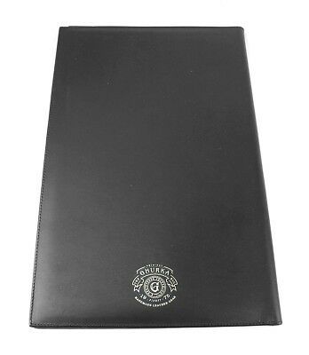Ghurka Black 100 Leather Large 14.5 X 9.5 Notebook Pad Brand New Made In Usa