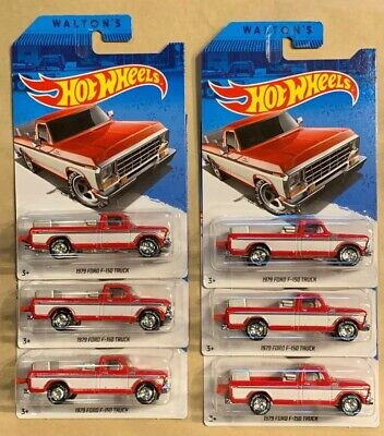 Hot Wheels Sam Walton 1979 Ford F-150 Truck Exclusive Walmart Museum Lot of 6