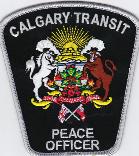 CALGARY TRANSIT Peace officer  patch,  silver trim, color seal