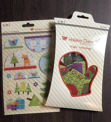 Lot of Winter/Holiday Themed Stickers & Embellishments SEI Holiday Cheer](Winter Holiday Themes)