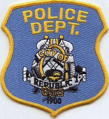 City of Republic Police Patch Washington WA NEW!!