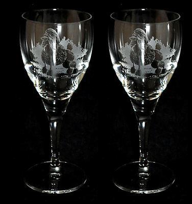 BLACK POODLE *DOG GIFT* Boxed PAIR of WINE GLASSES