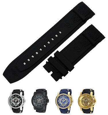 New Silicone Rubber replacement Watch Band Strap For Invicta S1 Rally Analog
