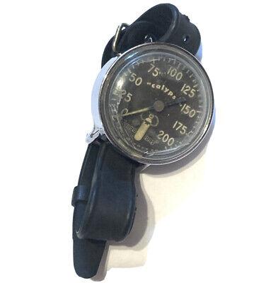 Vintage Calypso Aqua Lung Diving Wrist Watch Rubber Strap As Is