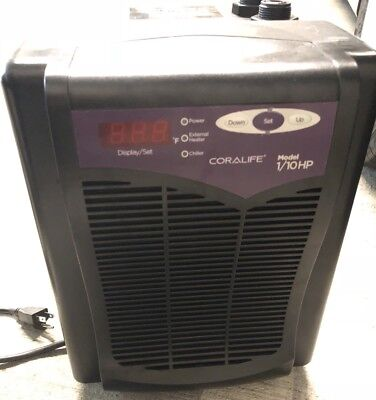 Coralife Energy Savers Aquarium ACL36060 Chiller 1/10hp - Works Great Used 3 Mo
