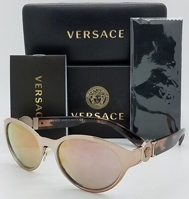 55453c2075809 New Versace sunglasses VE2179 13614Z Rose Gold Pink Cateye Oval AUTHENTIC  2179