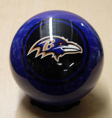 = 8 Bowling Ball Otb Viz-a-ball Rare 2010 Nfl Baltimore Ravens