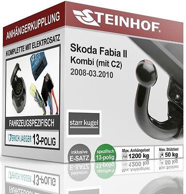 AutoHak Anhängerkupplung starr für Skoda Fabia Fiessheck 07-10 7pol spezifisch