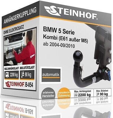 E60 Brink Anhängerkupplung abnehmbar /& 7pol E-Satz NEUWARE BMW 5er Limousine 03