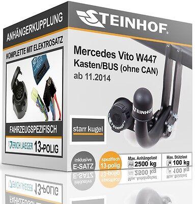 AHK+ES E-Satz Kit Anhängerkupplung ORIS starr für MERCEDES V-Klasse Viano