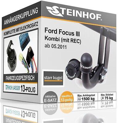 Ford Focus I 3//5-Tür Fließheck 98-04 Anhängerkupplung starr+E-Satz 7p