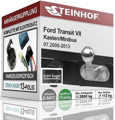Anhängerkupplung starr Für Ford TOURNEO COURIER ab 2014+E-SATZ 7polig NEU ABE