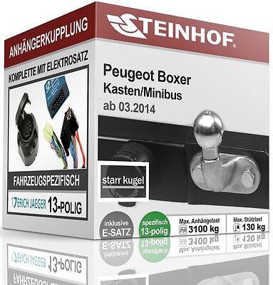 Für Peugeot Boxer II Kasten//Minibus auch L4//XL 06-11 AHK starr+E-Satz 13p spez