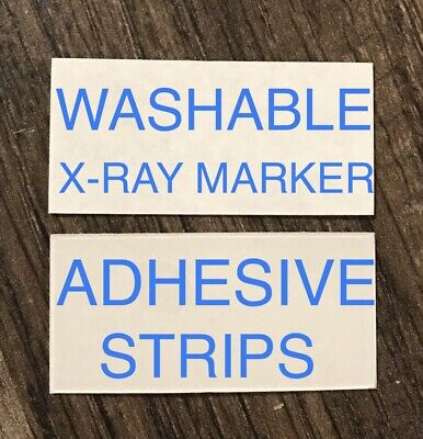 2 Sets X-Ray Marker WASHABLE Adhesive Strips FREE SHIPPING Lead xray  2 Adhesive Strips