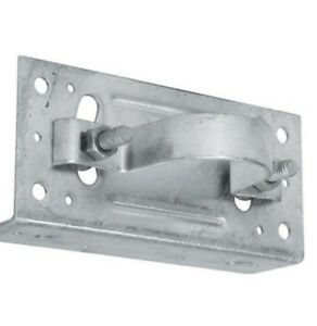 """WOOD FENCE TO ROUND STEEL POST WOOD FENCE ADAPTER BRACKET: 2 3/8""""    2 3/8 in"""