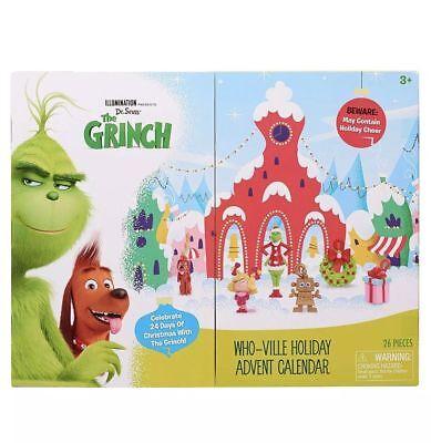 Dr. Seuss The Grinch Christmas Illumination Movie Who-Ville Advent Calendar 2018