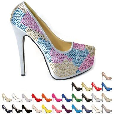 - NEW LADIES WOMENS STILETTO HIGH HEEL COURT SHOES SIZE 3 4 5 6 7 8