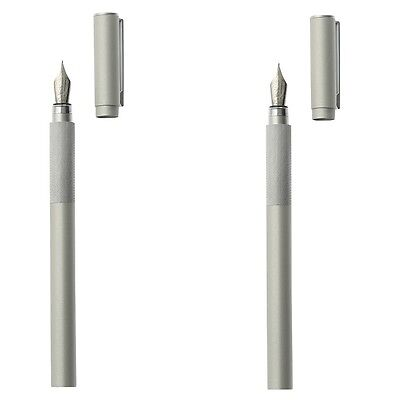 2pcs set MUJI Aluminum Fountain Pen  & Cartridge Moma 4547315136865