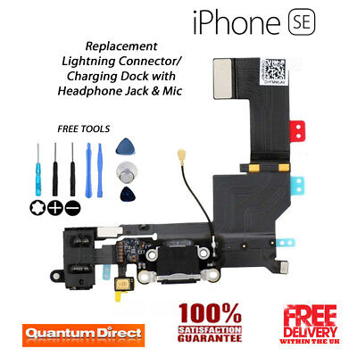 iPhone SE Replacement Lightning Port/Charging Dock Assembly with Tools - BLACK
