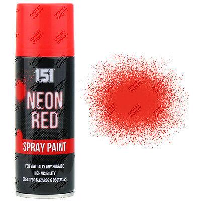 Rot-aerosol (6 X Fluoreszierend Neon Rot Aerosol-Spray-Farben Matt 200ml Auto 151 Qualität)