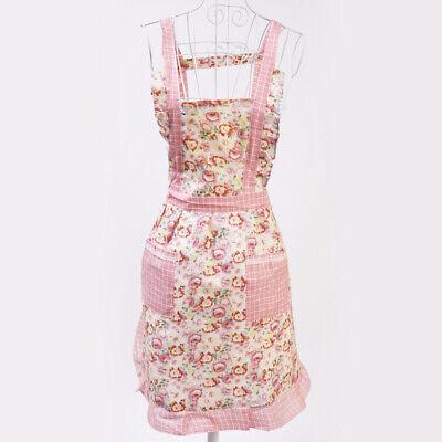 Floral Vintage Kitchen Apron Cooking Tea Shop Mother Party Hen Night Fancy Dress