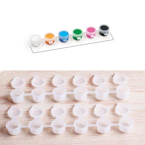 Tiny Mini Empty Paint Pot Pod Strips Plastic Container with Lids 3ml Storage DIY