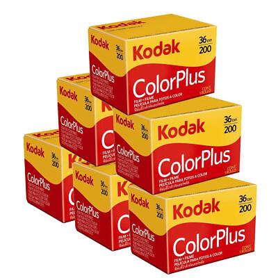 6 x Kodak ColorPlus 200 Film Pack 135 (36 Exposures)
