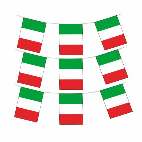 30M Italy Green White Red Flags Bandiera Italia Rugby Football Bunting