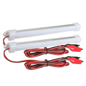 2x 12V Car LED SMD Interior Light Bar Tube Strip Lamp Van Boat Caravan WS