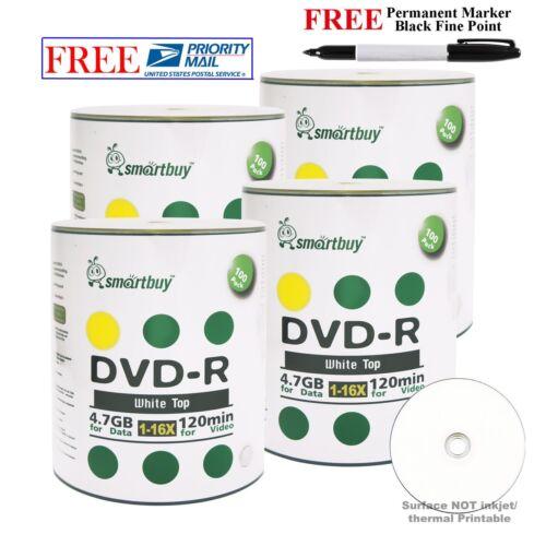 Smart Buy 400 Smartbuy Blank Dvd-r 16x 4.7gb White Top Re...