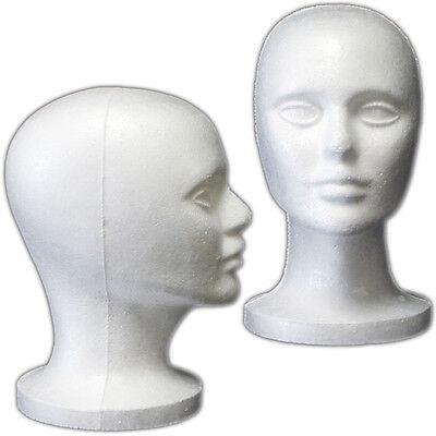 Mn-408 2 Pcs Female Styrofoam Mannequin Head