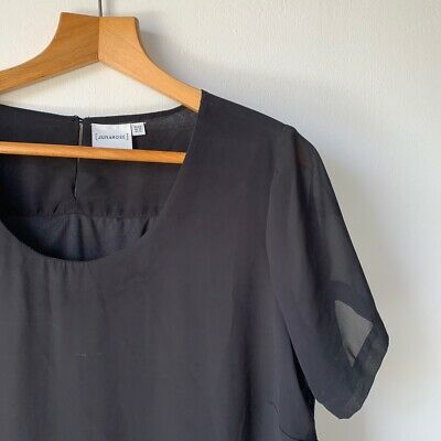 Womens Simply Be Black Maxi Dress Size 16 Junarose Floaty Top Casual