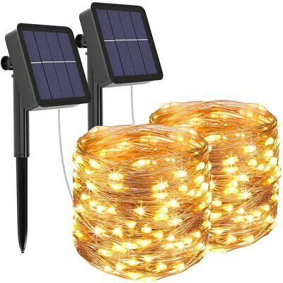 [2 Pack] Guirnaldas Luces Exterior Solar, Litogo Luces Led (Blanco Cálido)
