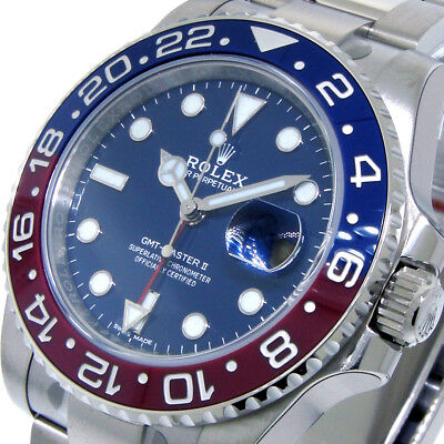 ROLEX BLUE DIAL GMT MASTER ll PEPSI 18K WHITE GOLD 116719BLRO 116719 BLUE RED