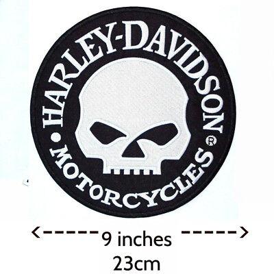Harley Davidson Willie G Skull Patch (back emblem, reflective)