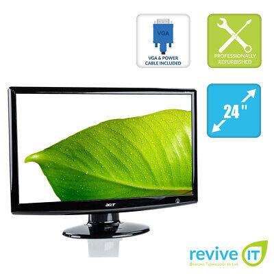 "Acer H243H 24"" LCD 1920x1080 VGA DVI HDMI Monitor Grade B"
