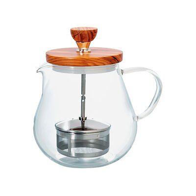 Hario Teioru Wood 700 ml TEO-70-OV Olive Tea Pot Pull Up Str