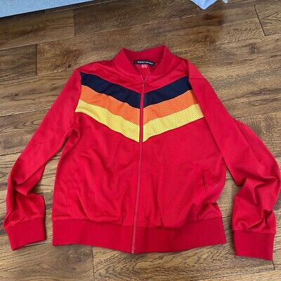 Perfect Moment Size Small Red Workout Tracksuit Top Designer Red Vintage Style