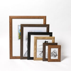 Wooden Traditional Photo Picture Frame Standing Wall Hanging Frames Black Brown