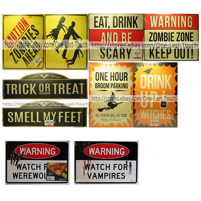 HALLOWEEN Double-Sided! STREET SIGNS Ideal For Parties HANGING New! *YOU CHOOSE*](Halloween Ideals)