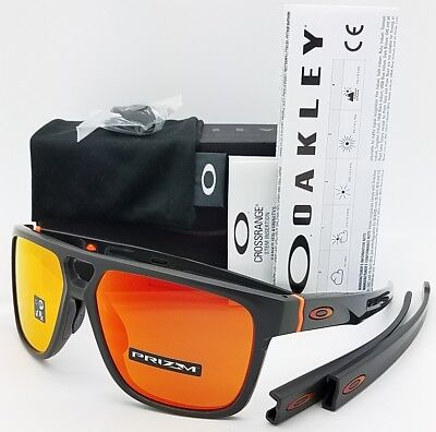 101a115241 NEW Oakley Crossrange Patch sunglasses Matte Carbon Prizm Ruby 9382-09  GENUINE