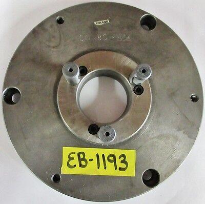 Poland 8 Chuck Adapter Plate D1-3 Spindle Mount 6-38 Pilot Diameter