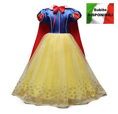 schneeweiß Karnevalkleid Kleid Princess Snow White Mädchen Kostüme SNOW004