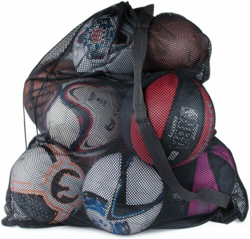 "Sports Ball Bag Drawstring Mesh - Extra Large Professional Equipment 30"" x 40"""